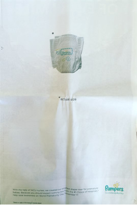 How Pampers Draws Massive Attention With This Tiny Ad