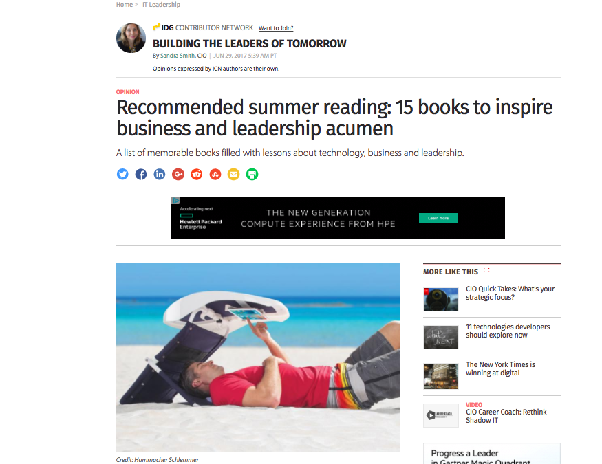 CIO Magazine recommends Carmine's books