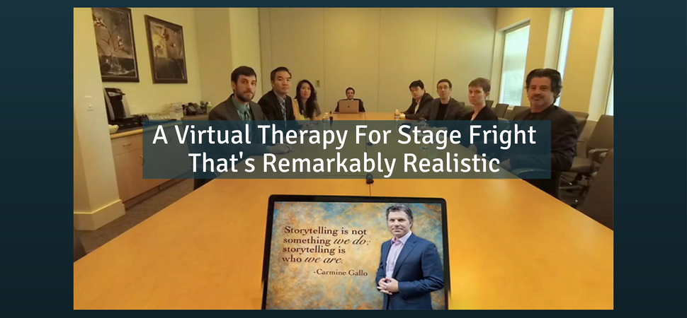 A Virtual Therapy For Stage Fright That's Remarkably Realistic