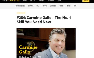 CARMINE GALLO TALKS ABOUT FIVE STARS ON ENTRELEADEARSHIP PODCAST