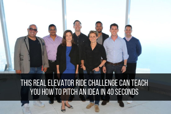 This Real Elevator Ride Challenge Can Teach You How To Pitch An Idea In 40 Seconds