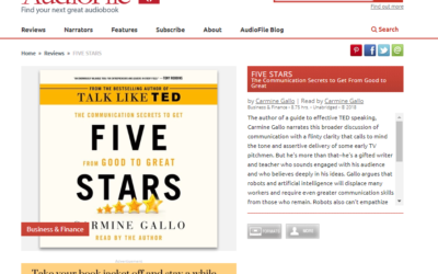 """The editors at AudioFile Magazine are raving about the """"Five Stars"""" audiobook"""