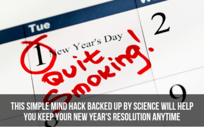 This Simple Mind Hack Backed Up By Science Will Help You Keep Your New Year's Resolution