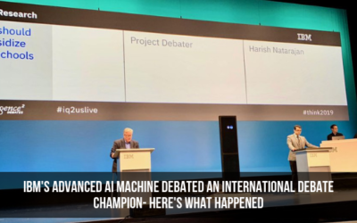 IBM's Advanced AI Machine Debated An International Debate Champion- Here's What Happened